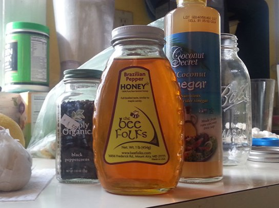 Fired Cider - Honey, Vinegar and Black Pepper (image by Michael Blackmore, Mad Crow Herbalism)